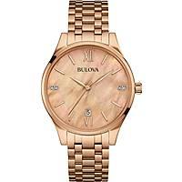 orologio solo tempo donna Bulova Diamonds 97S113