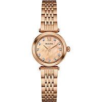orologio solo tempo donna Bulova Diamonds 97S116