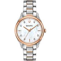 orologio solo tempo donna Bulova Diamonds 98P183