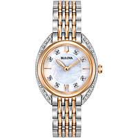 orologio solo tempo donna Bulova Diamonds 98R270