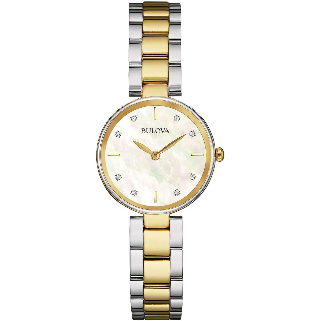 orologio solo tempo donna Bulova Diamonds 98S146