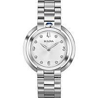 orologio solo tempo donna Bulova Diamonds Rubyat 96P184