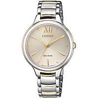 orologio solo tempo donna Citizen Lady EM0554-82X