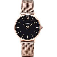 orologio solo tempo donna Cluse Minuit CL30016