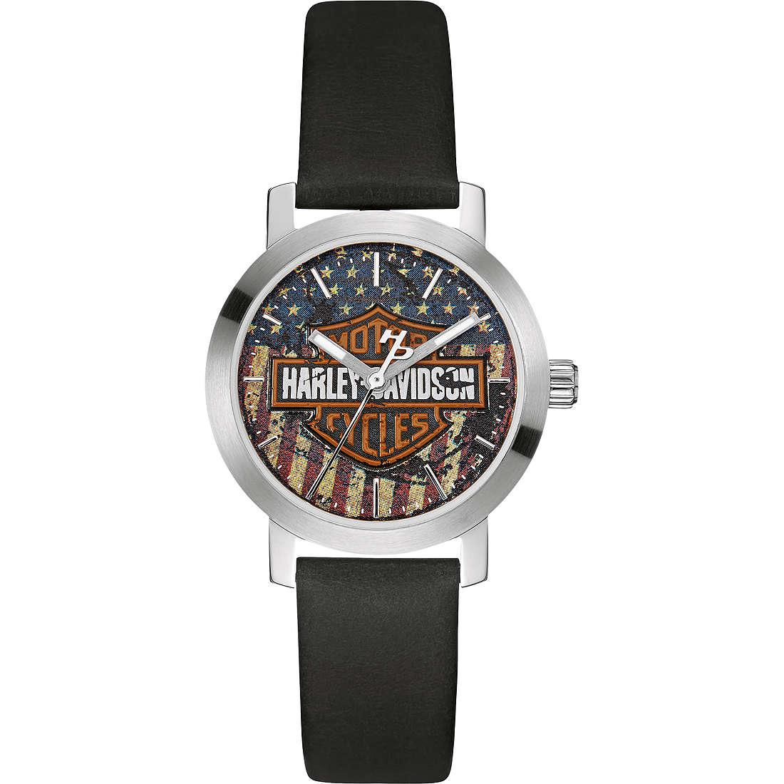 orologio solo tempo donna Harley Davidson 76L174