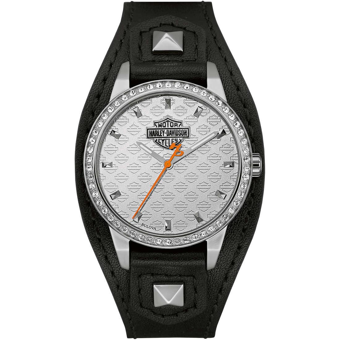 orologio solo tempo donna Harley Davidson 76L183