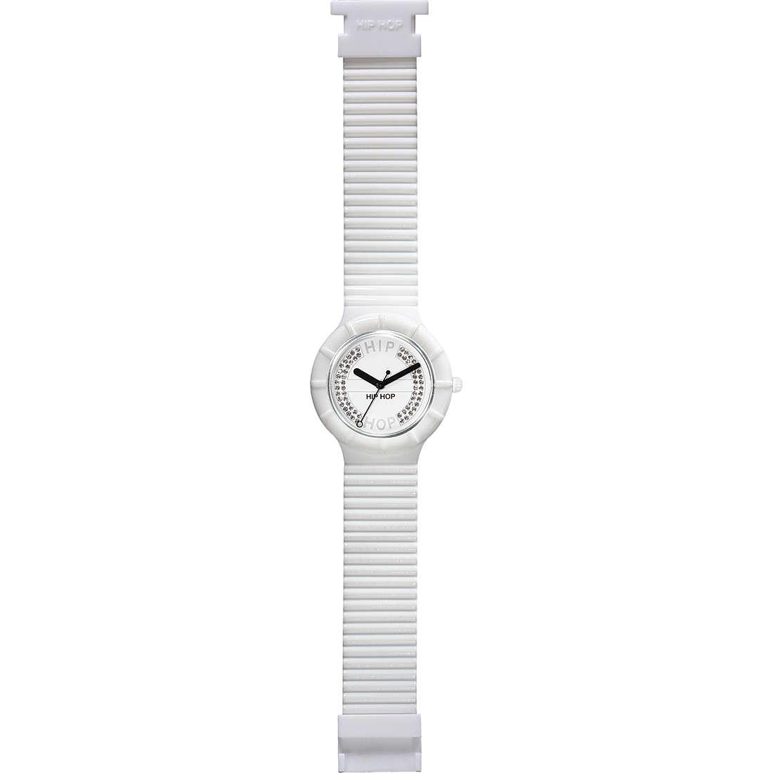 orologio solo tempo unisex Hip Hop Crystals HWU0067
