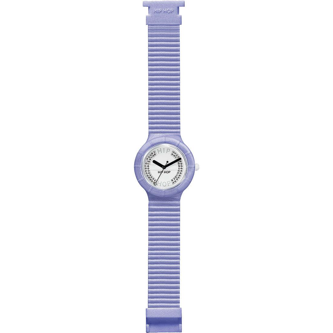 orologio solo tempo unisex Hip Hop Crystals HWU0072
