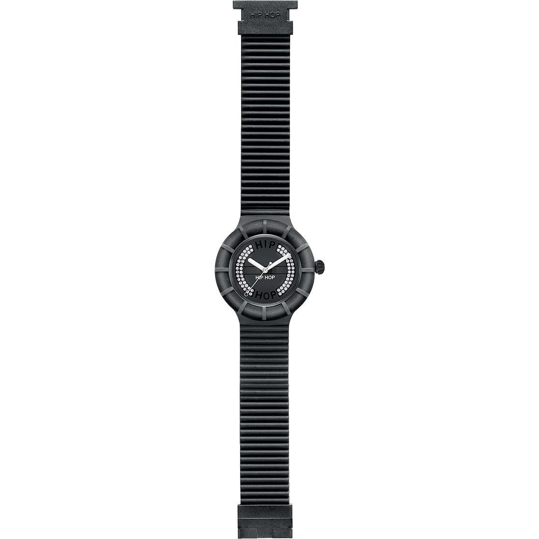orologio solo tempo unisex Hip Hop Crystals HWU0162