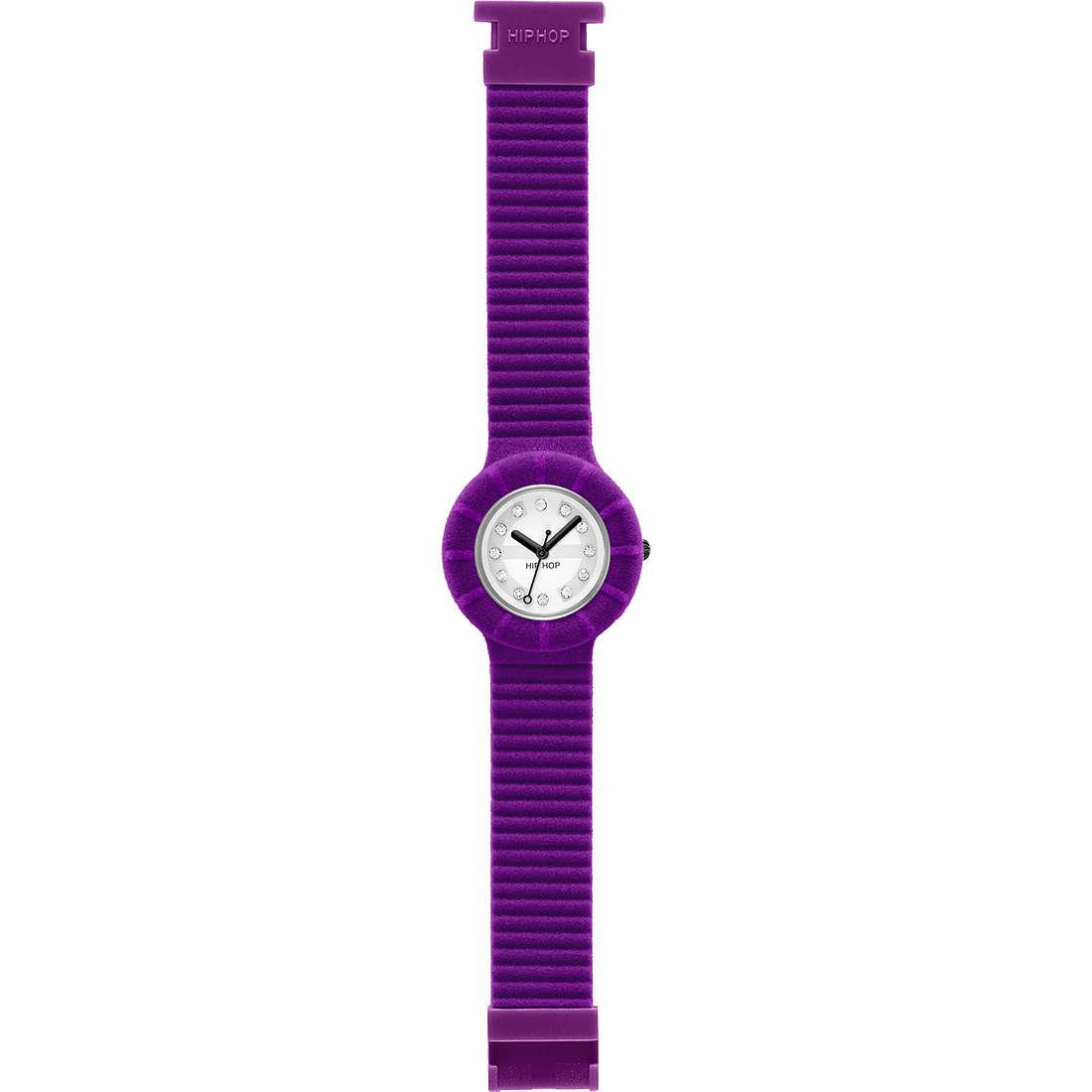 orologio solo tempo unisex Hip Hop Velvet touch HWU0143