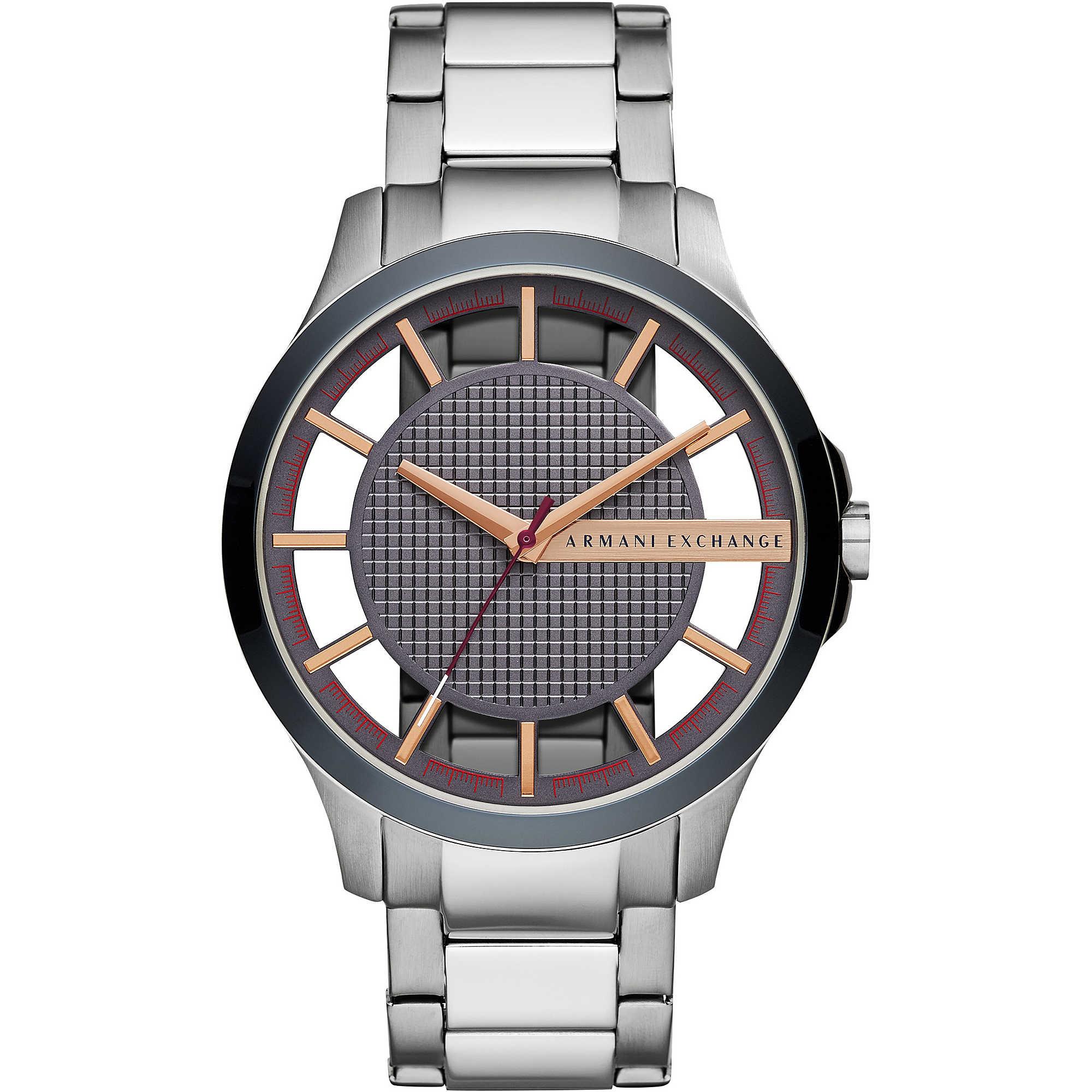 7f7b944683d6b9 orologio solo tempo uomo Armani Exchange Hampton AX2405 solo tempo ...