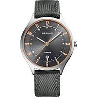 orologio solo tempo uomo Bering Titanium 11739-879