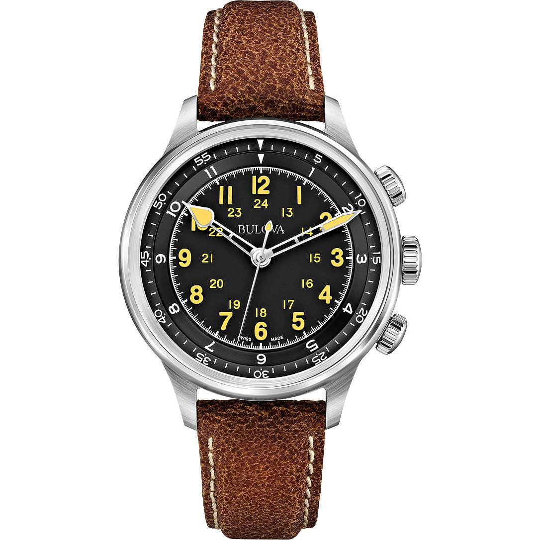 orologio solo tempo uomo Bulova Accu Swiss Military Vintage 63A119
