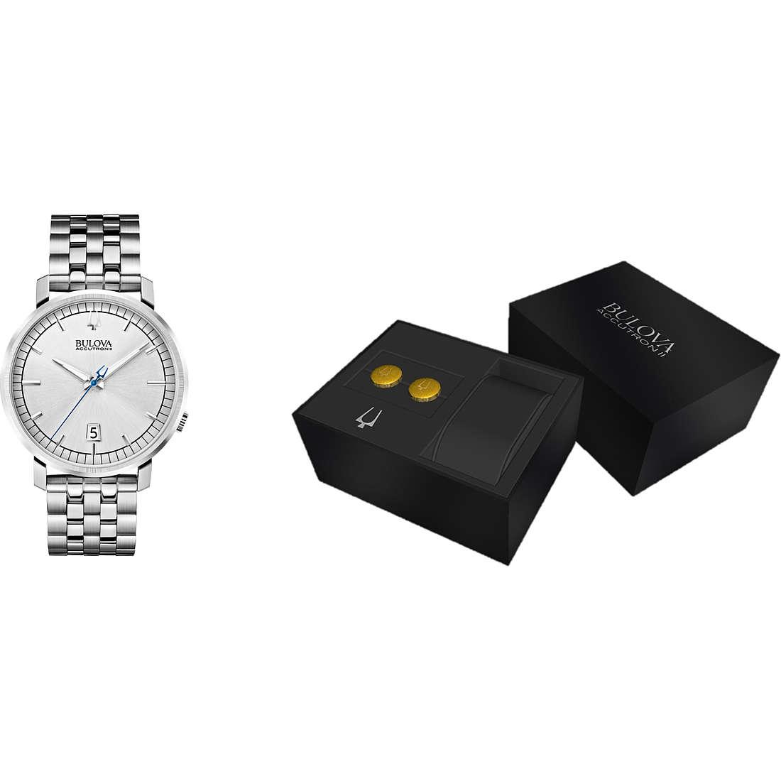 orologio solo tempo uomo Bulova Accutron II Box Set 96X128