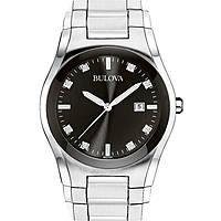 orologio solo tempo uomo Bulova Diamanti 96D104