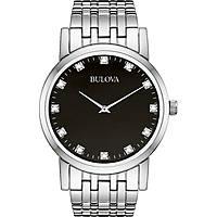 orologio solo tempo uomo Bulova Diamanti Duets 96D106