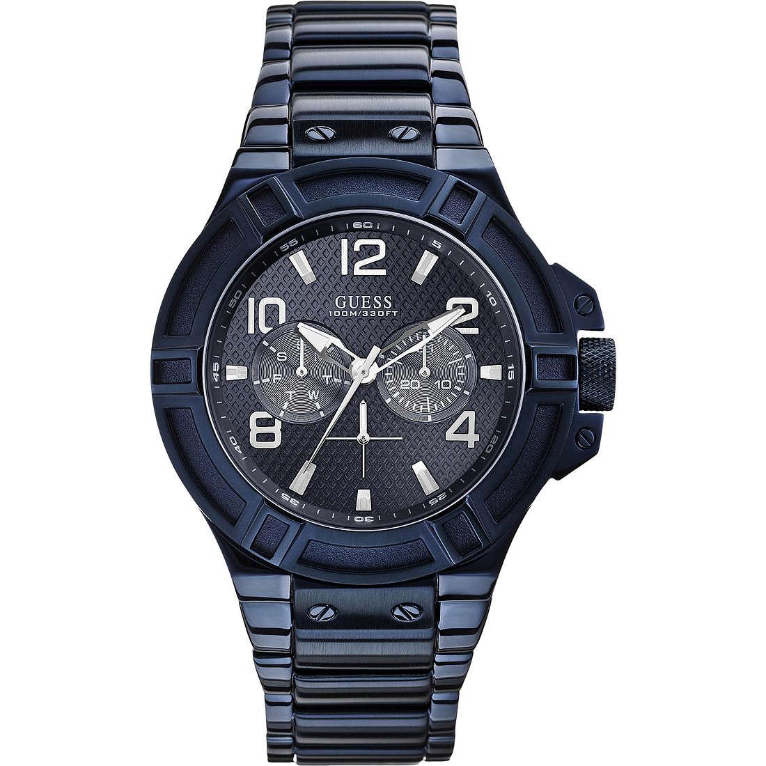 orologio solo tempo uomo Guess Blu W0218G4