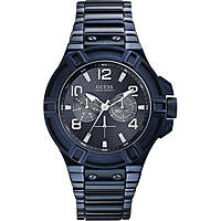 orologio solo tempo uomo Guess Blu W0218G4