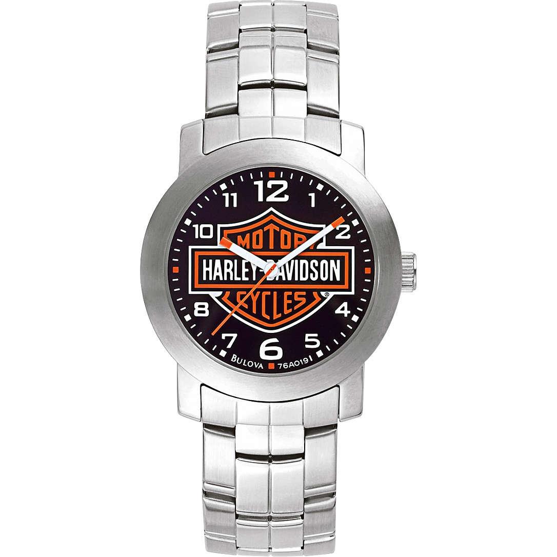 orologio solo tempo uomo Harley Davidson 76A019