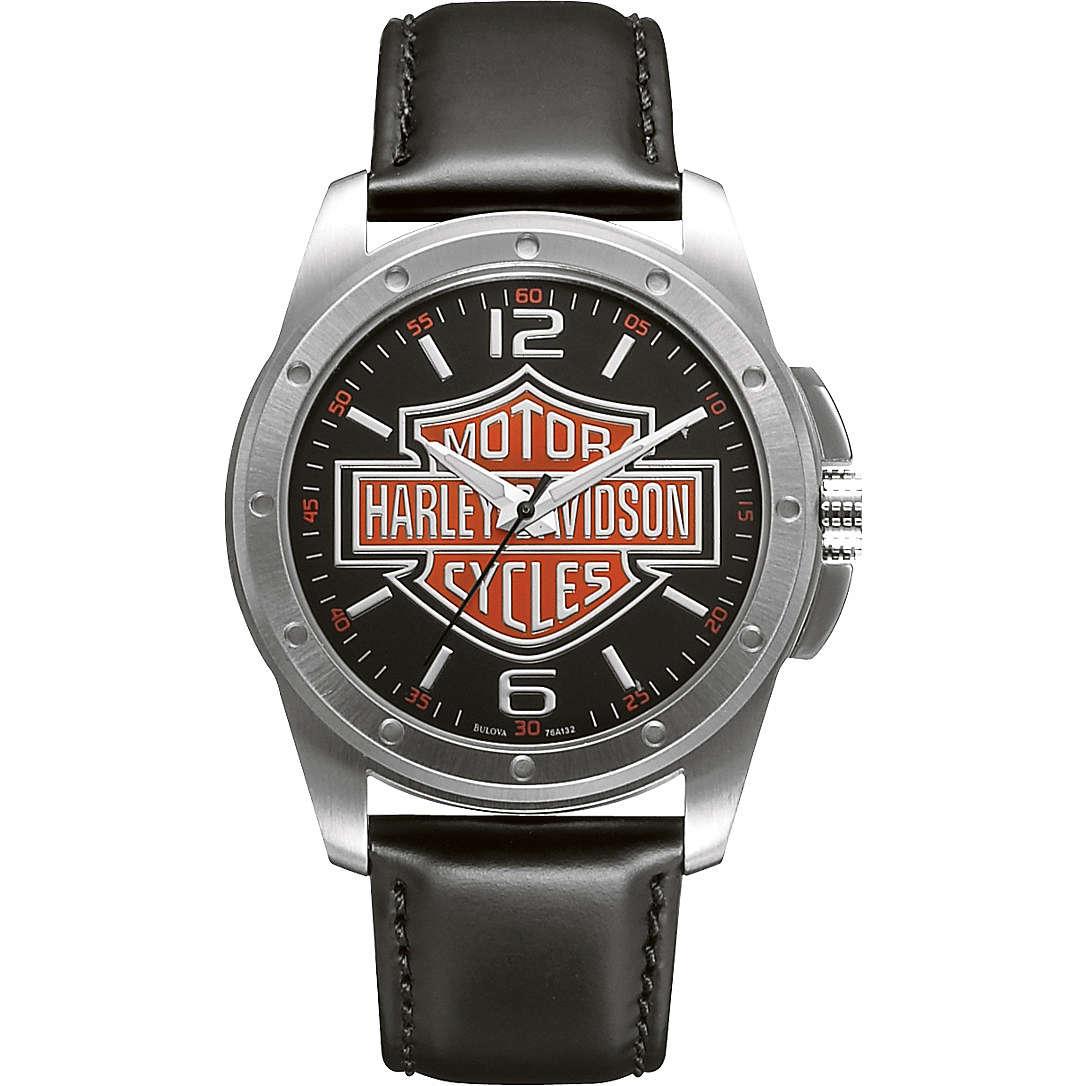 orologio solo tempo uomo Harley Davidson 76A132