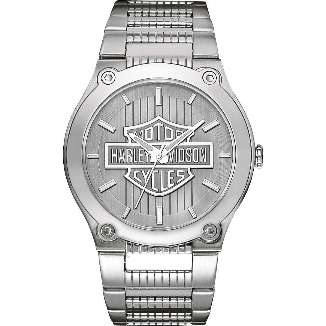 orologio solo tempo uomo Harley Davidson 76A134