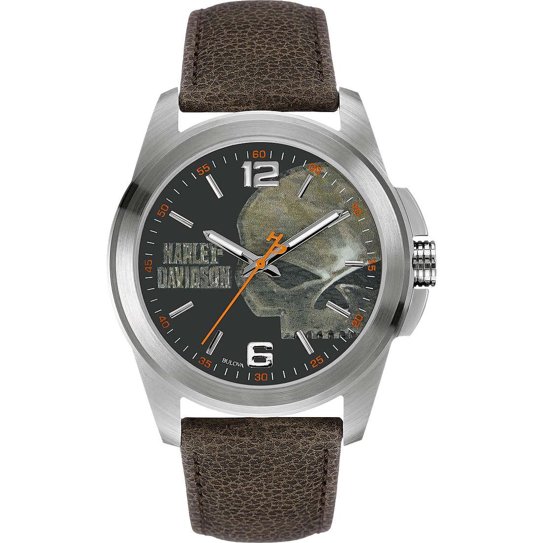 orologio solo tempo uomo Harley Davidson 76A146