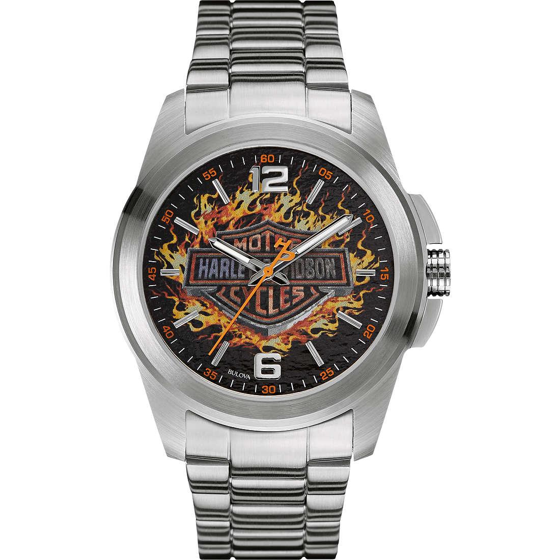 orologio solo tempo uomo Harley Davidson 76A147