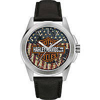 orologio solo tempo uomo Harley Davidson 76A153