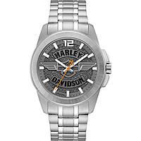 orologio solo tempo uomo Harley Davidson 76A157