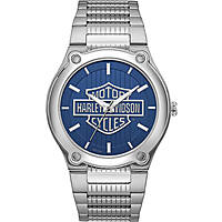 orologio solo tempo uomo Harley Davidson 76A159