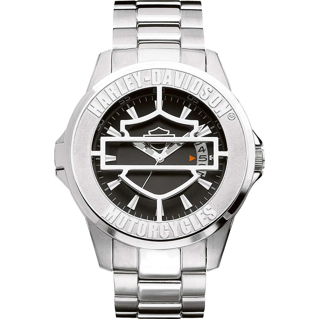 orologio solo tempo uomo Harley Davidson 76B143
