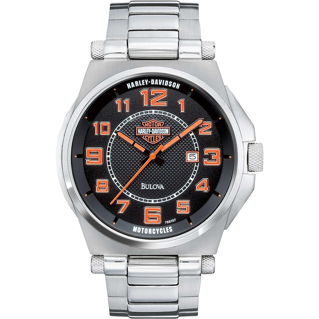 orologio solo tempo uomo Harley Davidson 76B157
