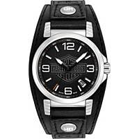 orologio solo tempo uomo Harley Davidson 76B163