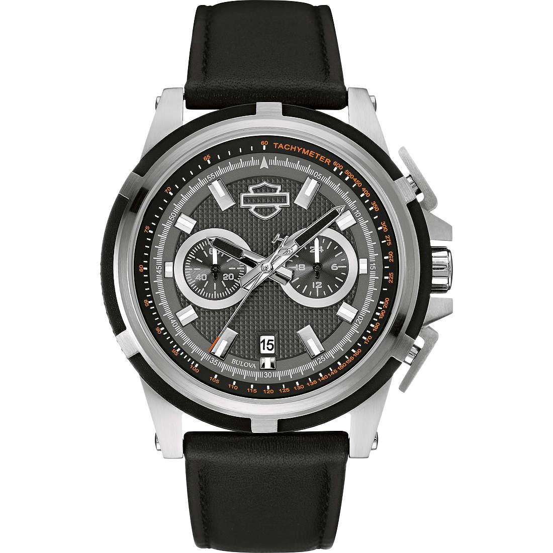orologio solo tempo uomo Harley Davidson 76B168