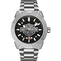 orologio solo tempo uomo Harley Davidson 76B169