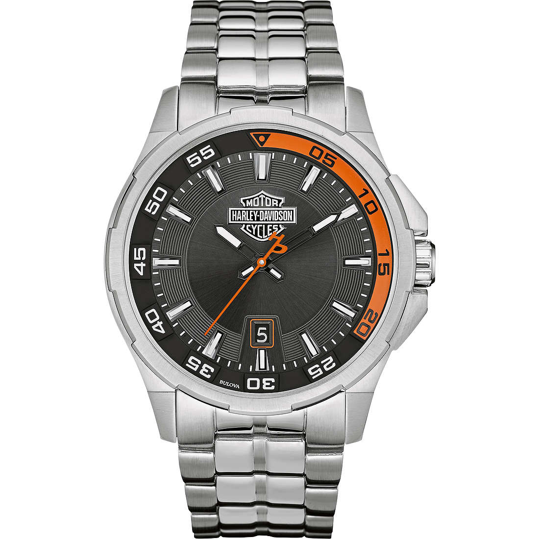 orologio solo tempo uomo Harley Davidson 76B170