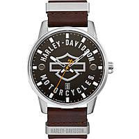 orologio solo tempo uomo Harley Davidson 76B178