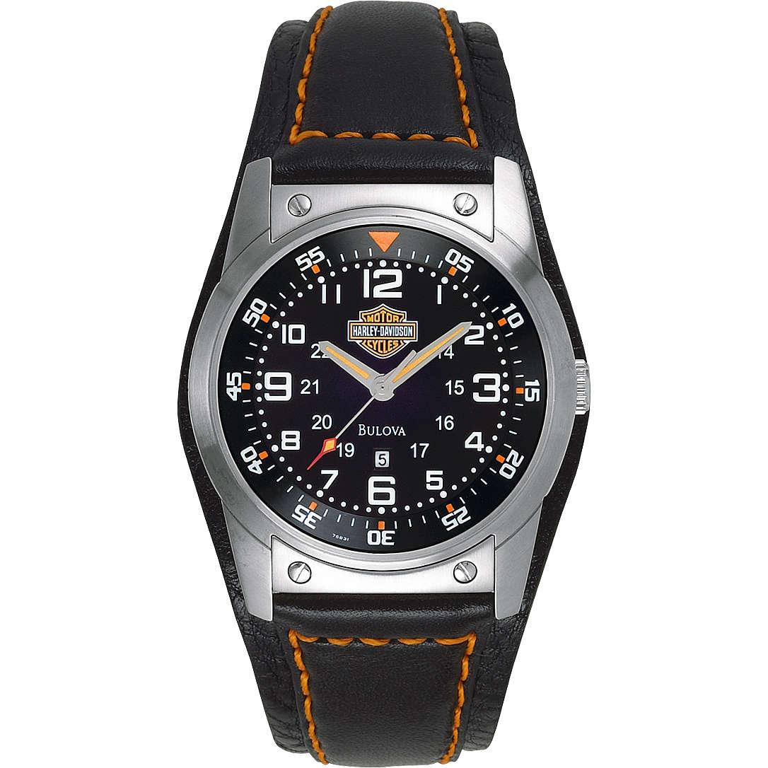 orologio solo tempo uomo Harley Davidson 76B31