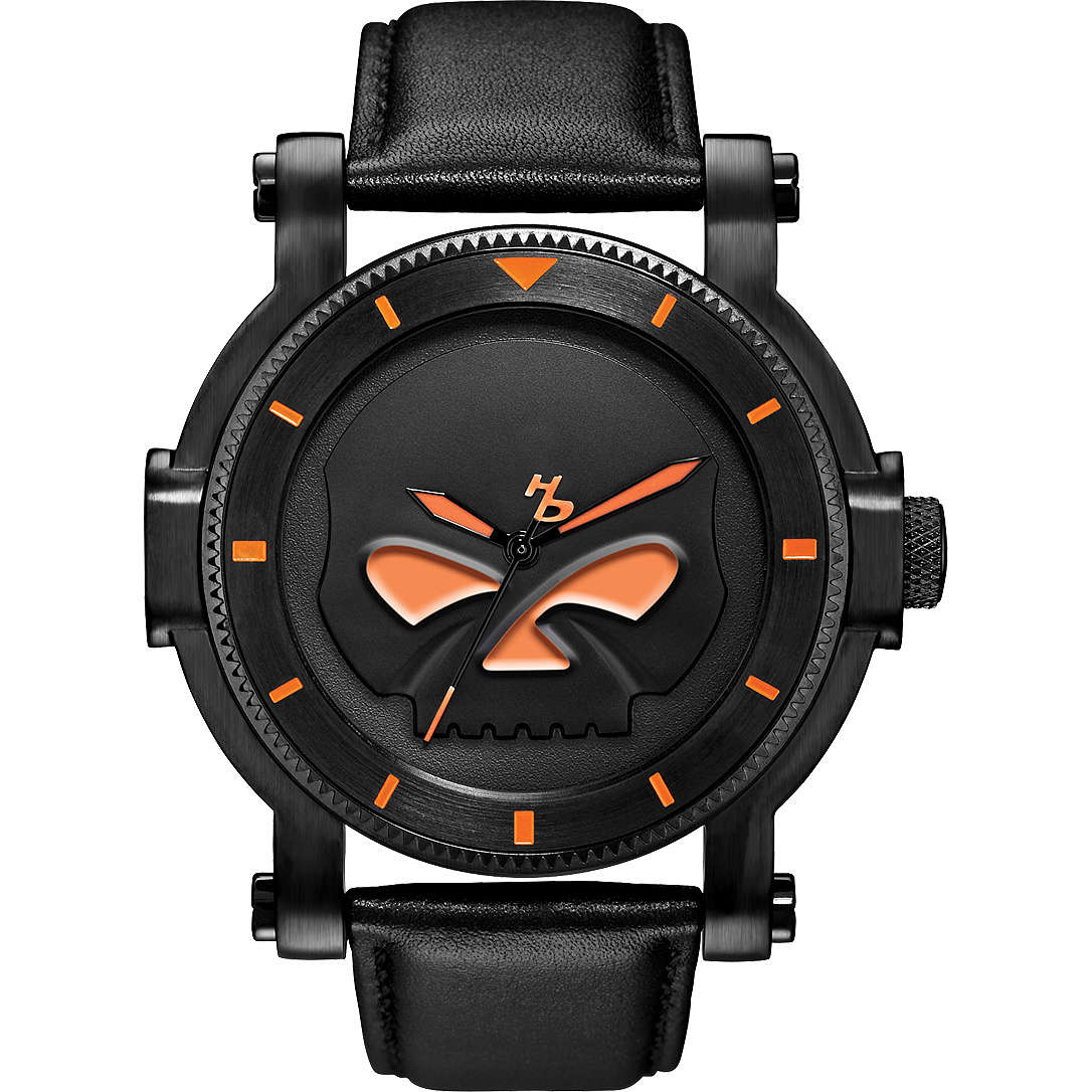 orologio solo tempo uomo Harley Davidson 78A114
