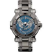 orologio solo tempo uomo Harley Davidson 78A117