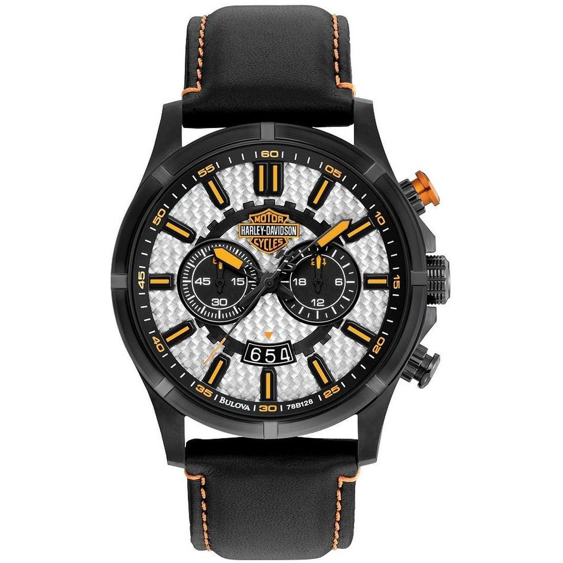 orologio solo tempo uomo Harley Davidson 78B128