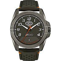 orologio solo tempo uomo Harley Davidson 78B143