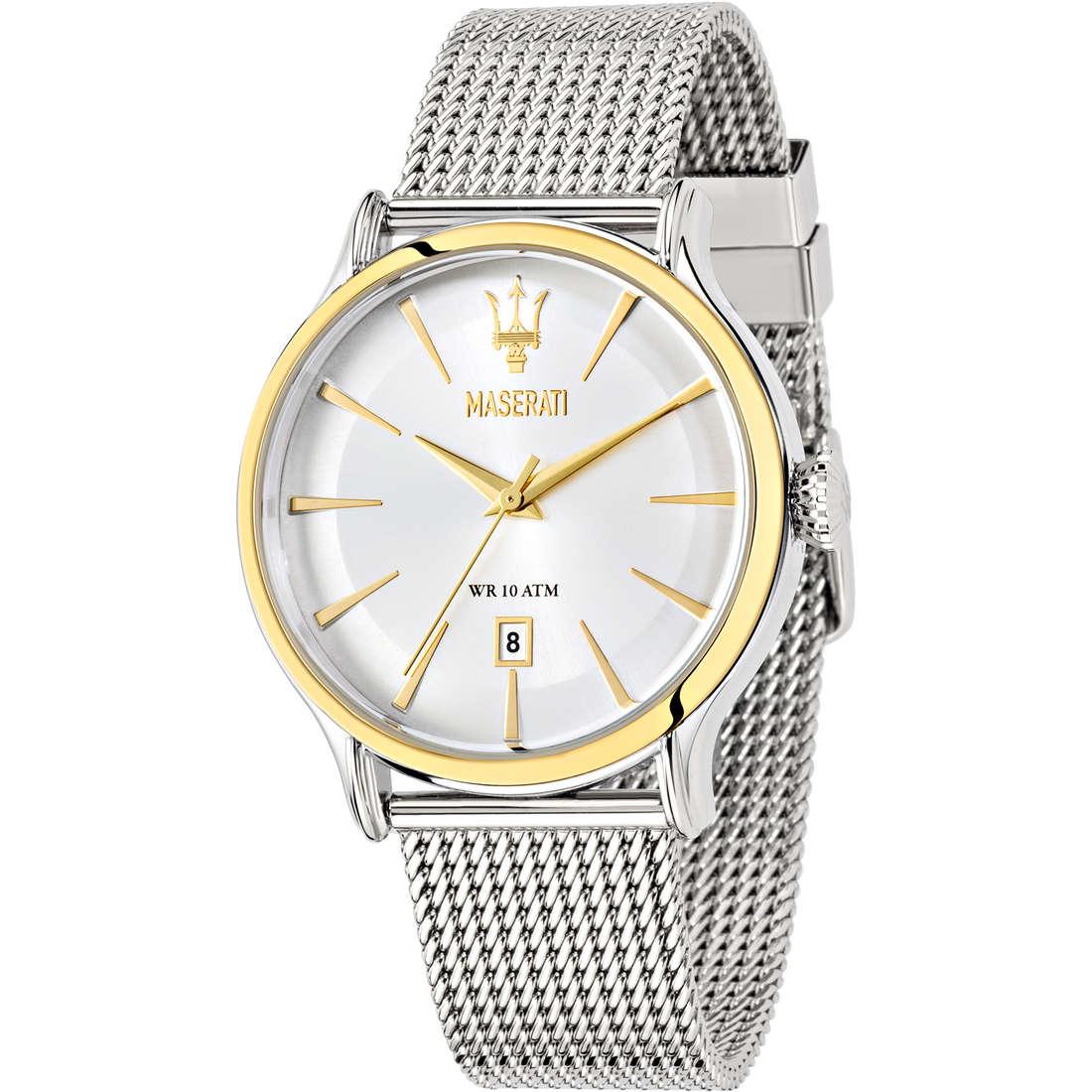orologio solo tempo uomo Maserati Epoca R8853118001