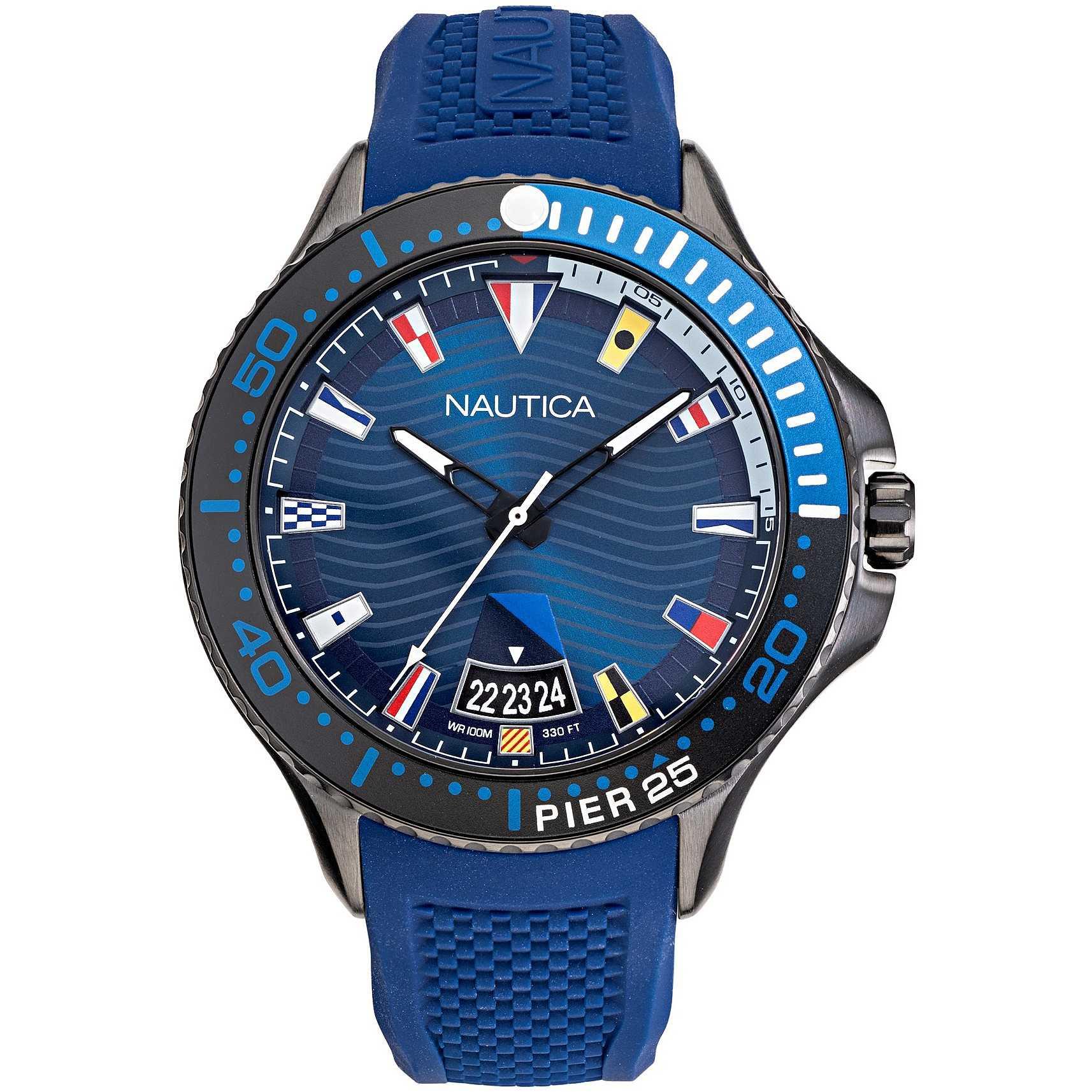 orologio solo tempo uomo Nautica Pier 25 NAPP25F08
