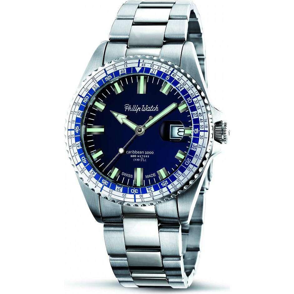orologio solo tempo uomo Philip Watch Caribe R8253107003