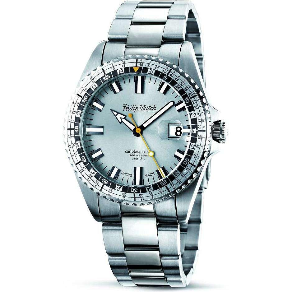 orologio solo tempo uomo Philip Watch Caribe R8253107004