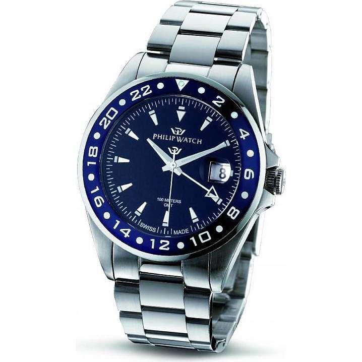 orologio solo tempo uomo Philip Watch Caribe R8253597012