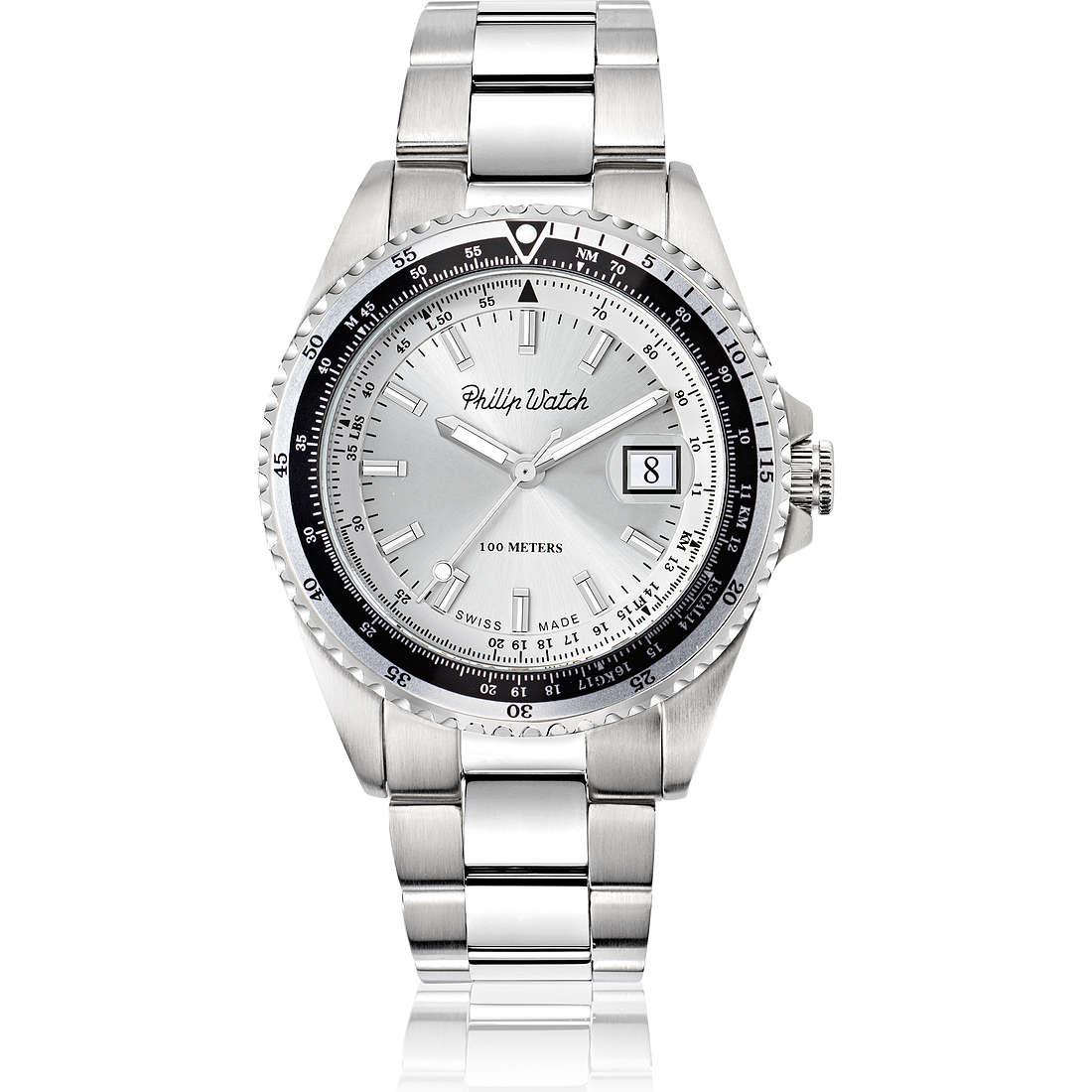 orologio solo tempo uomo Philip Watch Caribe R8253597021