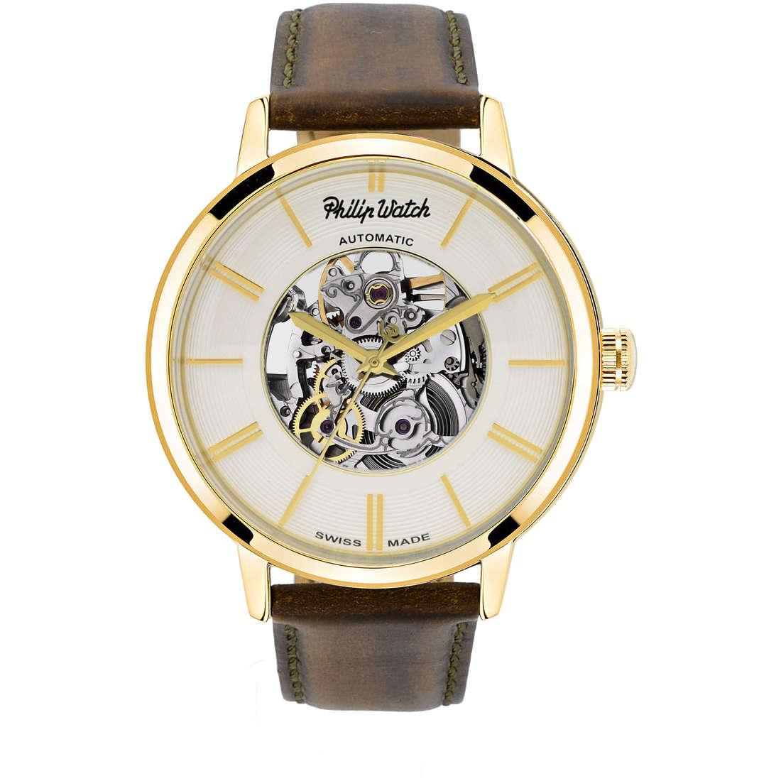 orologio solo tempo uomo Philip Watch Grand Archive R8221598001