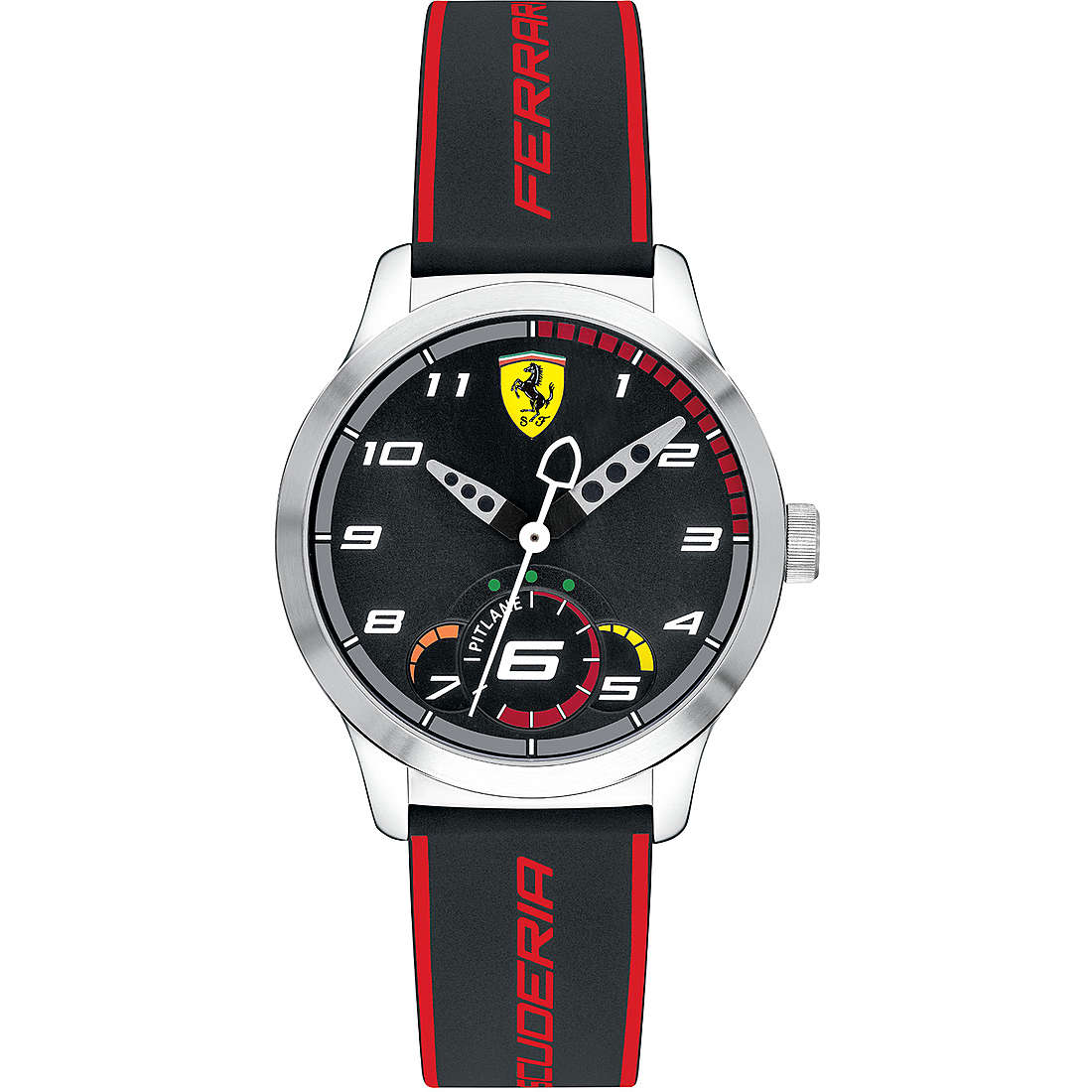 5ef22e6a2e1d85 orologio solo tempo uomo Scuderia Ferrari Pitlane FER0860003 solo ...